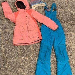 Girls 3 piece Lands End Snow Suit